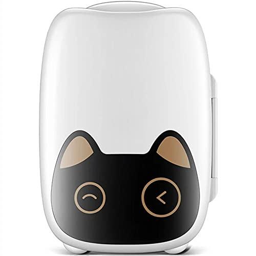 N / B Mini refrigerador para dormitorio, refrigerador portátil de maquillaje pequeño, enfriador compacto y calentador para el cuidado de la piel, cosméticos