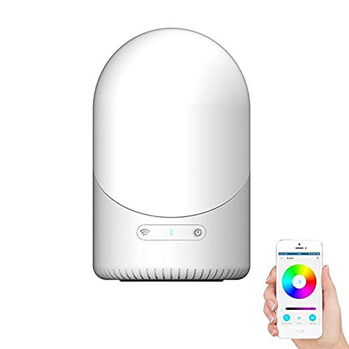 IOQSOF Lámpara de Mesa con WiFi, luz Nocturna LED Que Cambia de Color, Compatible con Amazon Alexa/Google Home, aplicación conectada...