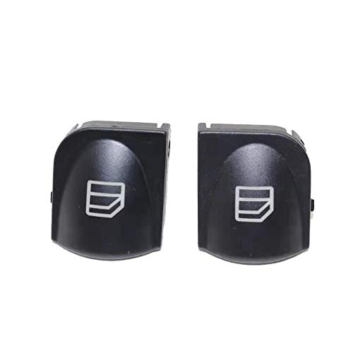 Botones Elevalunas Cubierta del interruptor de la ventana de 2 piezas para Mercedes W203 C-Class Power Botón de la ventana Interruptor de la consola Caps C320 C230 C240 C280 Interruptor Ventana