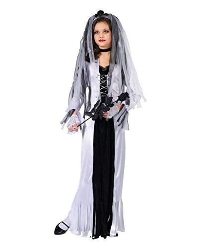 Horror-Shop Costume Fantasma Sposa Bambino L