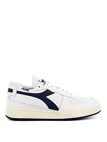 Diadora Heritage 201.176282 C1494 Bianco/Blu CORSARO Sneakers Uomo 8½