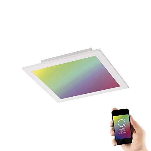 Paul Neuhaus Q-Flag, LED Panel, 30x30, Smart-Home Decken-Lampe | mit RGB-Farbwechsel, dimmbar, warmweiss - kaltweiss | Decken-Leuchte Alexa & Google Home kompatibel