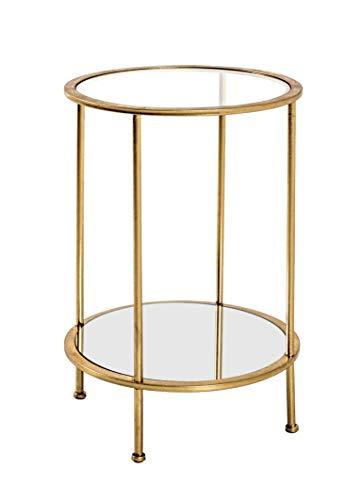 HAKU Möbel Beistelltisch, Stahlrohr, Gold, Ø 38 x 55 cm