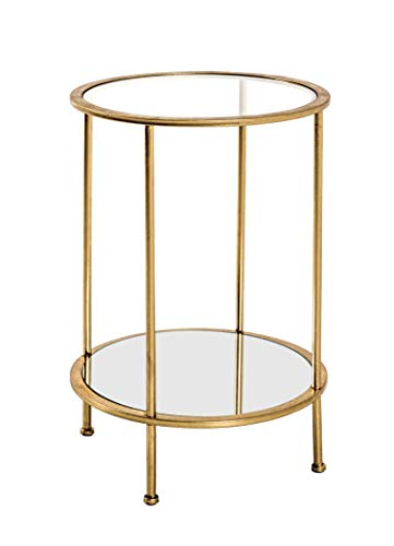HAKU Möbel Tavolino, Tubo in Acciaio, Oro, 38 x 55 cm
