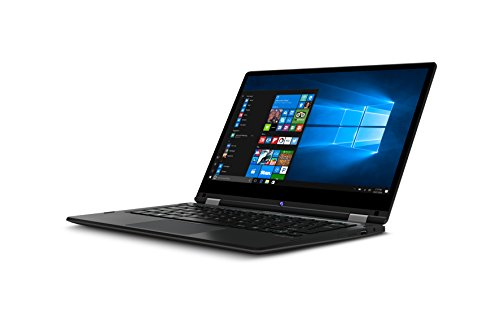 "Medion E3213 - Ordenador portátil convertible 13.3"" FullHD (Intel Celeron N3350, RAM de 4GB, eMMC de 64GB, Intel HD Graphics, Windows 10), negro - Teclado QWERTY español"
