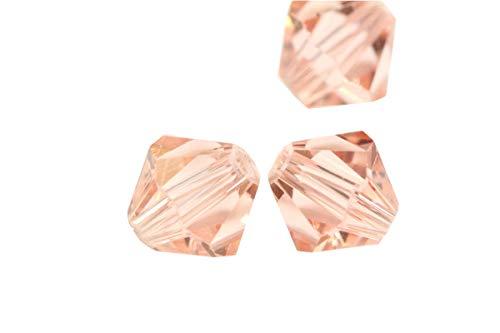24Adabele Austrian Bicone perline di cristallo sfaccettato cristallo compatibile con Swarovski Preciosa Crystalized 5301/5328 10mm Light Padparadscha