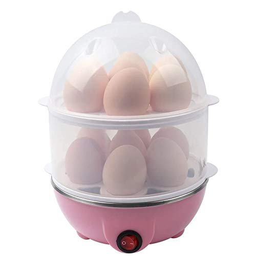 LOVEHOUGE Hervidor De Huevos,Hervidor De Huevos Eléctrico Rápido De 350 W,Huevos Duros, Medios O Blandos,Hervidor De Huevos De Doble Capa con Apagado...