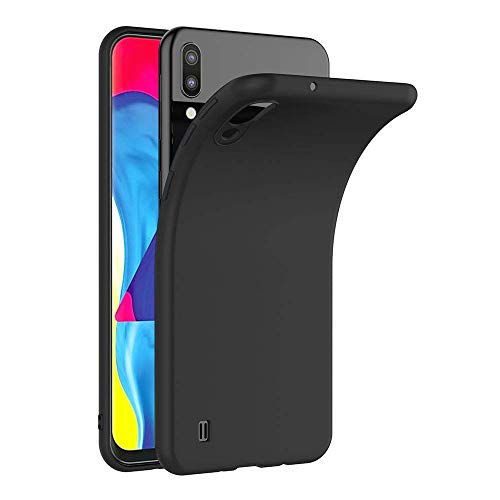 COPHONE® Cover per Samsung Galaxy A10 Cover Galaxy A10 Nero Silicone Case Molle di TPU Sottile Custodia per Samsung Galaxy A10