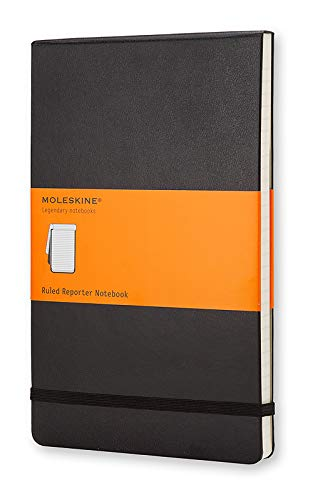 Moleskine Classic Notebook, Hard Cover, Large (5' x 8.25') Ruled/Lined, Black, 240 Pages