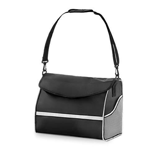 Uniprodo UNI_ROLL_06 P Rollatortasche schwarz/silber Tasche für Rollator Rollator-Einkaufstasche groß