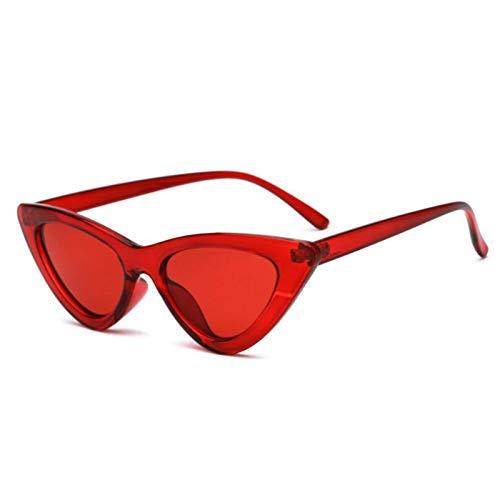 Sunglasses Gafas de Sol de Moda Lindas Y Atractivas Gafas De Sol Retro con Forma De Ojo De Gato para Mujer, Pequeño, Neg