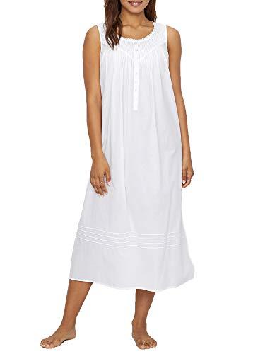 Eileen West Poetic Lawn Ballet Woven Nightgown, L, White