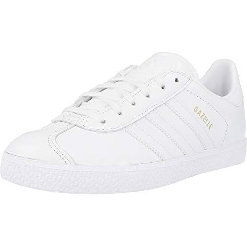 adidas Gazelle J, Sneaker Unisex Adulto, Cloud White/Cloud White/Cloud White, 37 1/3 EU