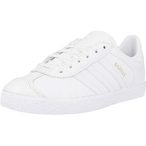 adidas Gazelle J, Sneaker Unisex Adulto, Cloud White/Cloud White/Cloud White, 38 2/3 EU