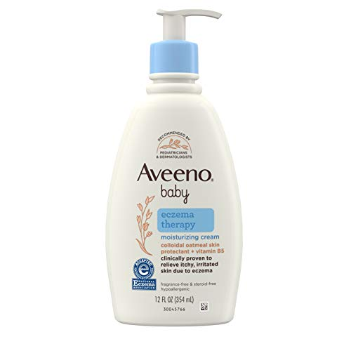 Aveeno Baby Eczema Therapy Moisturizing Cream Natural Colloidal Oatmeal amp Vitamin B5 Moisturizes amp Relieves Dry Itchy Irritated Skin Due to Eczema Paraben amp SteroidFree 12 fl oz