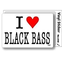 ILBT-041 アイラブステッカー I love BLACK BASS (ブラックバス) ステッカー