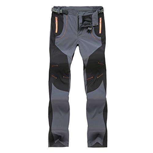 Solike Pantalons de Travail Pantalon Cargo Homme Femme Résistant à l'abrasion Genouillères avec Poches - Épaisse et Mince - pour Toute la Saison (Medium, Gris(Femme/Mince))