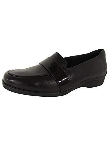 Aravon Women's Loafers, Black Leather, 8