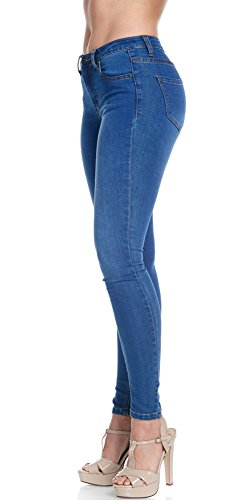 Women's Super Comfy Basic Low Rise Skinny Jeans with Comfort Stretch 6