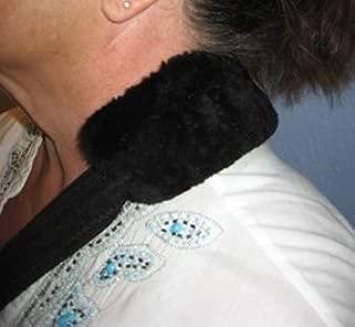 Australian Merino Sheepskin Arm Sling Strap Cover Pad Tube for Medical Arm Slings (Black Mouton, 16 Inch Long)