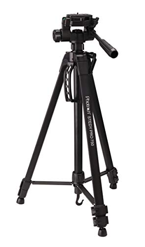 Photron Stedy PRO 750 Tripod for DSLR, Camera | Travelling | Maximum Operating Height: 1675mm | Weight Load Capacity: 4kg, Case Included