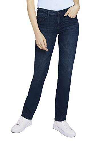 TOM TAILOR Damen 1024891 Alexa Straight Jeans, 10282-Dark Stone Wash Denim, 32W / 30L
