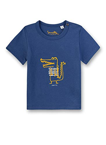 Sanetta Baby-Jungen T-Shirt, Blau (Blue 50317), 86 (Herstellergröße: 086)