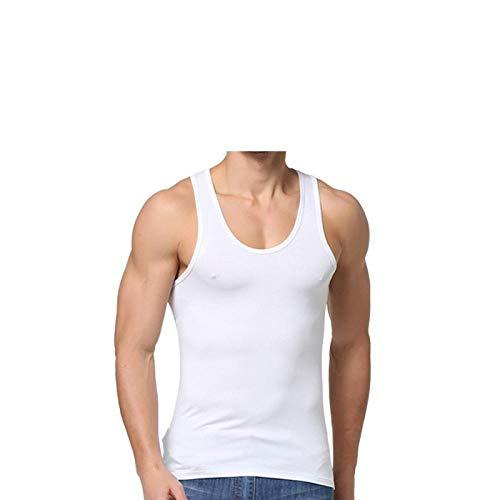 bayrick Camiseta de Manga Corta para HombreCamiseta Interior roscada de Fondo de algodón con Chaleco para Hombre * 5-UN_XXXL