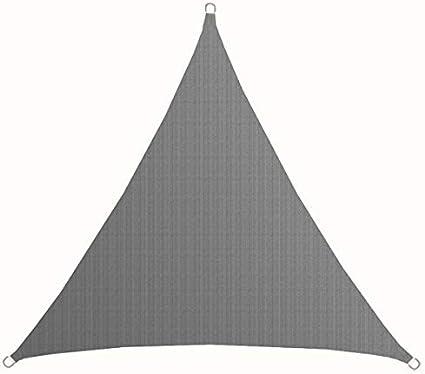 Sonnenschutz Plane /Überdachung Balkon Garten Grau 2x2x2 m HDPE Dreieck AMANKA UV Sonnensegel