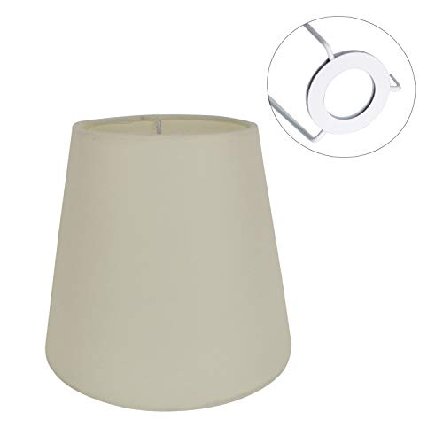 Eastlion 5.5 inch Paralume Tessuto Piccolo E14 Paralumi Lampadari Lampadario e Lampada a Muro,Beige