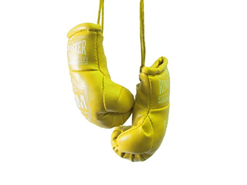 RingMasterUK – Mini guantes de boxeo para colgar en el retrovisor del coche o de la furgoneta, amarillo