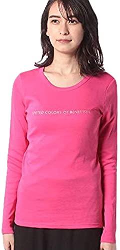 United Colors of Benetton (Z6ERJ T-Shirt M/L 3GA2E16G0 Camiseta, Fucsia 3l5, Mujer