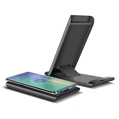 Gymqian Cargador Inalámbrico, Soporte de Carga Inalámbrico Rápido de 15W Qi para Iphone, Negro Disipación de calor rápido/Negro