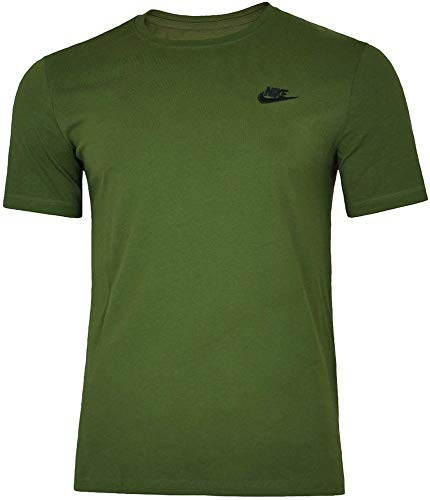 Nike Herren M NSW Tee Club Embrd Ftra-827021 T-Shirt, Olive Canvas/Black, M