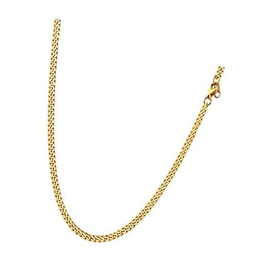 Cadena fina para hombre de 3 mm de oro, cadena para joyería de 50,8 cm