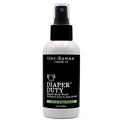Diaper Duty Diaper Area Wash 4oz, Orange Blossom & Aloe, Gentle Cleansing Spray for Cloth Diapers, Calming & Soothing