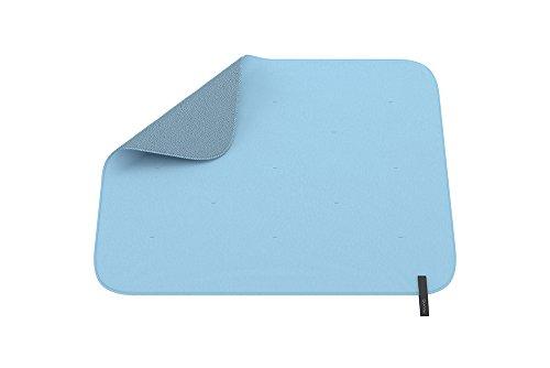 Quinny Decke für Kinderwagen und Babyschalen, einfache Befestigung am Rahmen des Kinderwagens, Wendedecke für einen neuen Look, blau