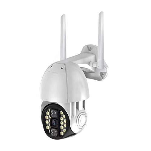 SUN JUNWEI Cámara De Seguridad para Exteriores con Visión Nocturna En Color, 1080P PTZ WiFi CCTV Vigilancia para El Hogar con Audio Bidireccional, Detección De Movimiento, Resistente A La Intemperie