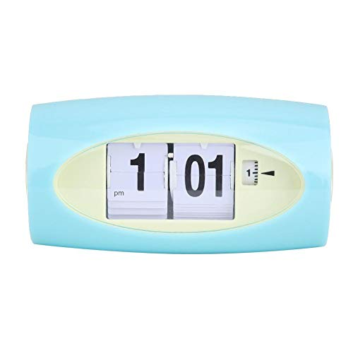 AUNMAS Retro tafelklok kant flip klok wekker temperatuurweergave nacht wekker Home Desktop Decor