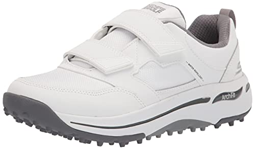Skechers Women s Go Arch Fit Golf Shoe, White Black 2 Strap, 9.5