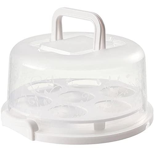 Ruluti Portable Keeping Cake Carrier Frigorifero Fresco Ricevere Scatola Torta di Immagazzinaggio Contenitore con Cupcake Fix Tavola 26 * 22,5 * 13,5 Centimetri