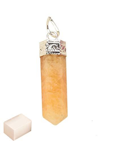 Blessfull Healing Reiki Fe espiritual Energía curativa Orgonita 6 caras amarillo citrino collar colgante cristal de carga de selenita