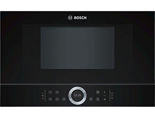 Bosch BFL634GB1 Serie 8 Einbau-Mikrowelle / 900 W / 21 L / Türanschlag Links / Schwarz / AutoPilot 7 / automatische Leistungsstufe nach Gewicht