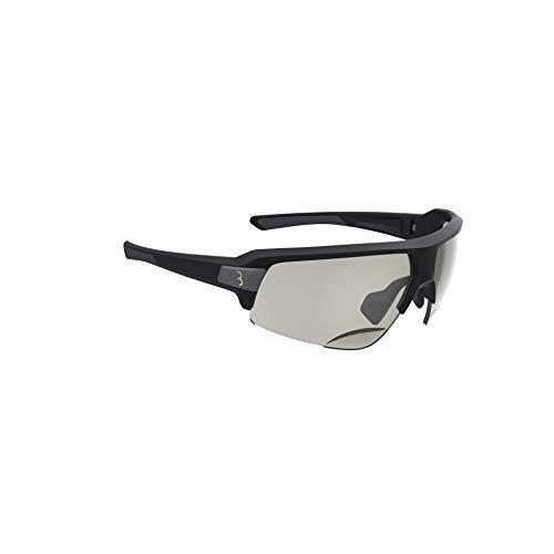 BBB Cycling Fahrrad BSG-64PH Sportbrille mit Leseteil für Weitsichtige +2.5 Glanz Impulse Reader PH BSG-64, Matt Schwarz