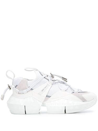 JIMMY CHOO Luxury Fashion Damen J000126713OPTICALWHITE Weiss Leder Sneakers | Frühling Sommer 20