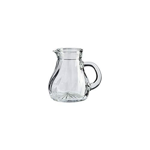 Stölzle Oberglas Salzburg Krug Karaffe Wasserkrug Weinkrug I Spiraloptik 0,125l, 6er Set, spülmaschinenfest, hochwertige Qualität