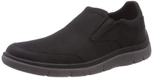 Clarks Tunsil Step, Zapatillas sin Cordones Hombre, Negro (Black Mesh), 42.5 EU