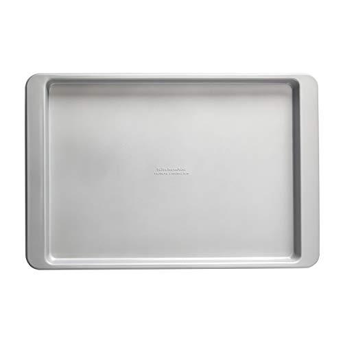 KitchenAid Nonstick Aluminized Steel Baking Sheet, 13x18-Inch, Silver