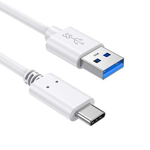 Slabo Cavo di Ricarica USB Type C Tipo C per iPad PRO 11 (2018) (3ª Generazione) | PRO 11 (2020) (2ª Generazione) | iPad PRO 12,9 (2018) (3ª Generazione) | etc. Cavo di Collegamento Dati - Bianco
