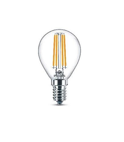 Philips ampoule LED Sphérique E14 60W Blanc Chaud Claire, Verre